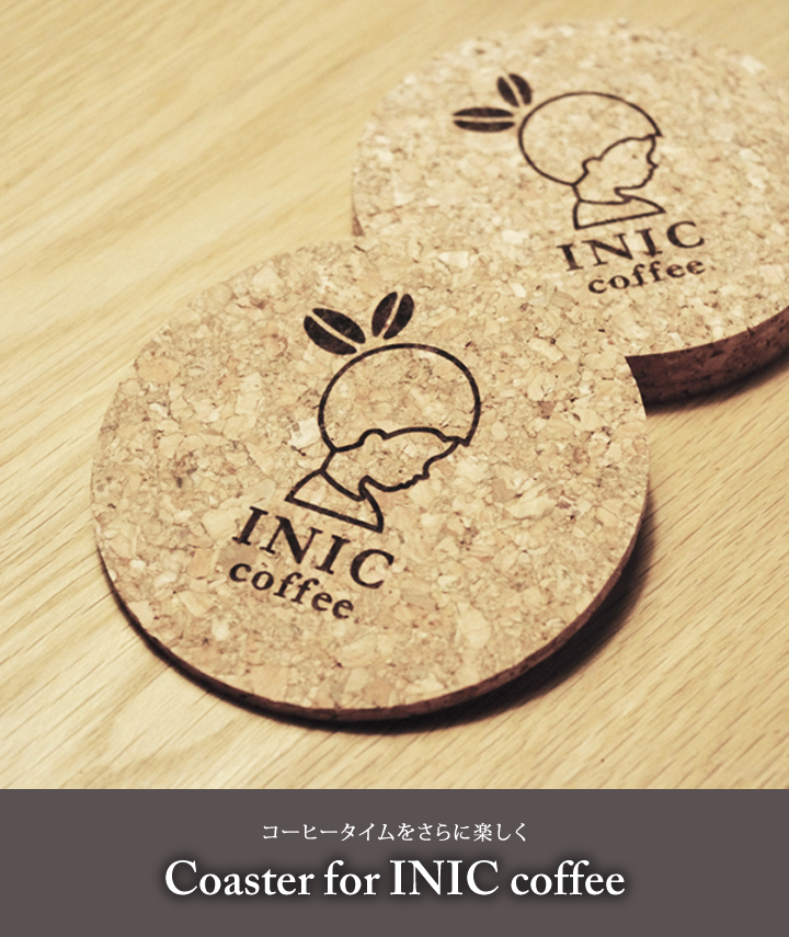 Coaster for INIC coffee